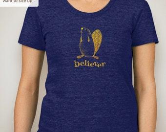Beaver Believer junior/women's t-shirt