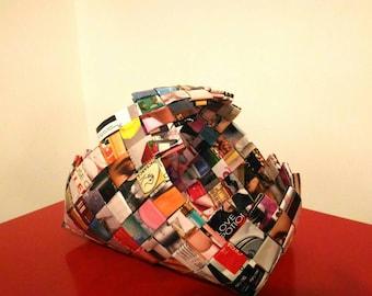 Handmade woven paper basket