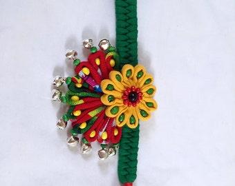 Handmade traditional children's flower bracelet