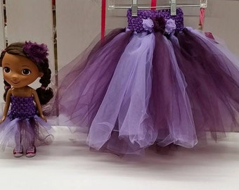 2T-4T Tutu with Matching Tutu for a Doll