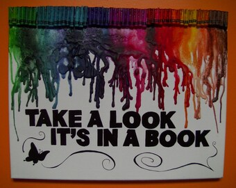 Reading Rainbow Melted Crayon Art