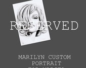 Marilyn Monroe custom portrait in graphite