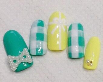 Kawaii custom nails - permanently wearable quality