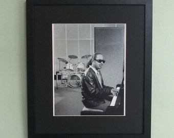 Stevie Wonder framed 8' x 10' photo