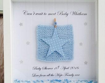 Baby Shower Frame, new baby frame, personalised baby shower gift, personalised new baby gift, christening frame