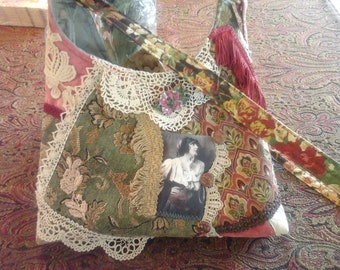 Shabby boho gypsy handbag