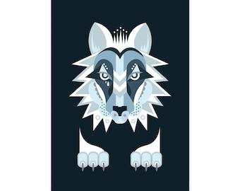 Geometric Wolf - Illustration