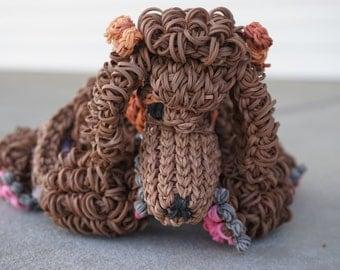Brown Rainbow Loom Poodle
