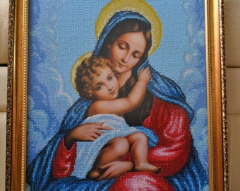 "The painting ""Madonna with child"""
