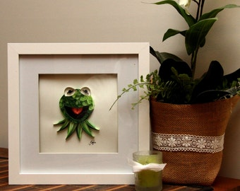 Quilled Paper Art: Kermit the Frog