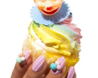 Kawaii Party Gel Press on Nails