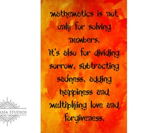 Math Poster, Quote, Printable Poster, Maths, Education
