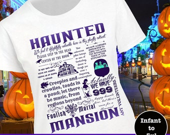 Disney Haunted Mansion Shirt, Disney Haunted Mansion Tee, Disney Haunted Mansion Tshirt, Disney Halloween Shirt