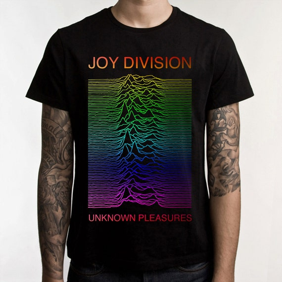 joy division t shirt unknown pleasures shirt rock by pbcdesign. Black Bedroom Furniture Sets. Home Design Ideas
