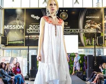 Linen Dress - Handmade-Women dress