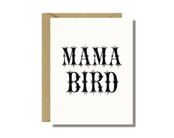 Mama Bird Greeting Card