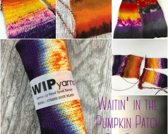 Waitin' in the Pumpkin Patch - Double Strand Sock Blank,  Superwash Merino Wool Nylon Blend Sock Yarn
