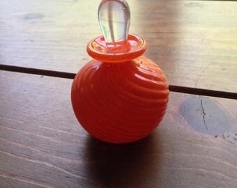 Orange Glass Perfume Bottle