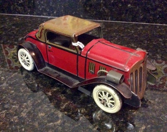 Vintage Tin Friction Classic Coupe Toy Automobile - 1930's - Marx of USA