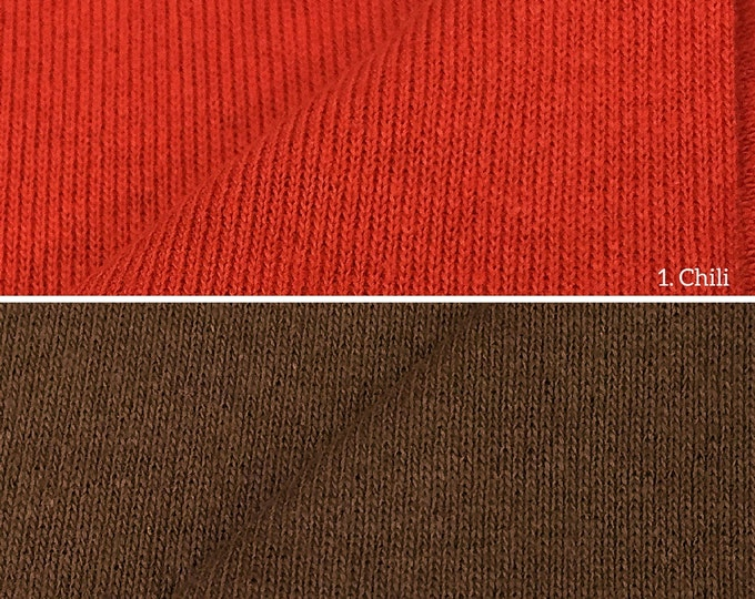 100% Cotton 1x1 Rib Knit Fabric (Wholesale Price Available By the Bolt) USA Made Premium Quality - 4001 - 1 Yard