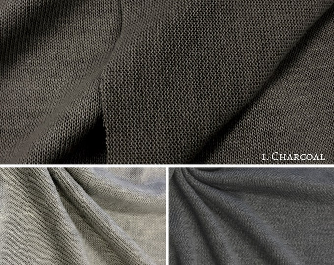 Poly Rayon Spandex Sweater Knit Jersey Fabric By the Yard (Wholesale Price Available By the Bolt) USA Made Premium Quality - 10002 - 1 Yard