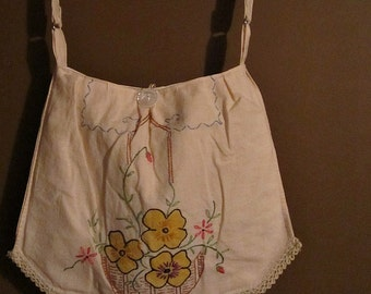 Handmade Yellow Floral Shoulder Bag