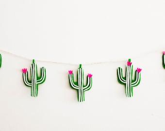 Cactus Felt Banner
