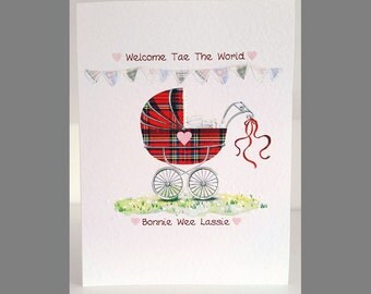 Special Wishes Large Baby Pram Lassie Card SW BA02