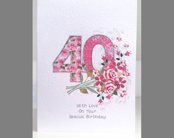 Special Wishes Large Birthday Floral Bouquet 40 Card SW BI07