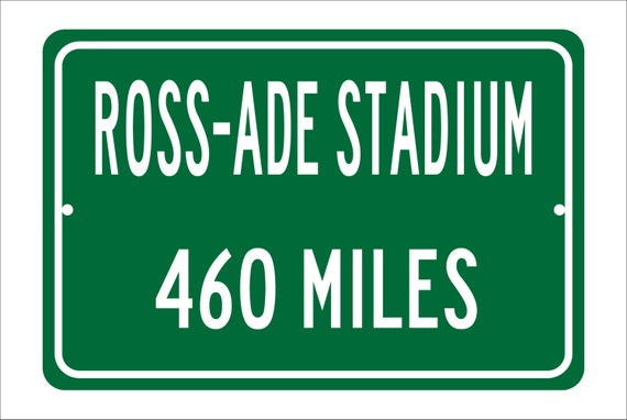 Custom College Highway Distance Sign to Ross-Ade Stadium | Home of the Purdue University Boilermakers | Purdue Football | Boilermakers |