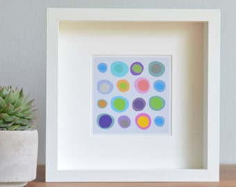 Modern Art Print, Wall Art, Limited Edition, Children's Decor, [Whimsical Rocks: Bright Pastel] UNFRAMED Print