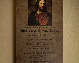 Gorgeous Canvas Gallery Wrapped Fine Art Priesthood Line of Authority ~ Heirloom LDS Gift