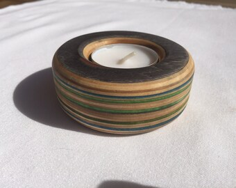 Recycled Skateboard Candle Holder