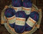 Patons Kroy Socks Yarn Made in Turkey Color No 55561 Winter Eclipse Crochet Knit