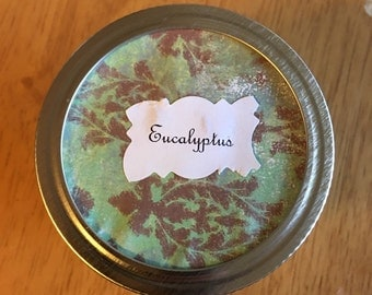 Homemade Eucalyptus Scented Candles