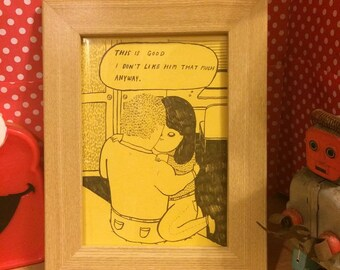 Short story comic reproduction: I don't like him that much / yellow