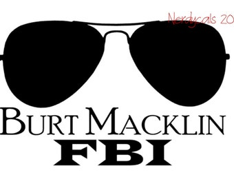Parks and Recreation Burt Macklin FBI Andy Dwyer Parks & Rec TV Show Vinyl Graphic Car Window Decal Sticker