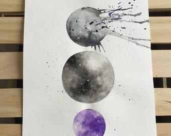 "Watercolor planets, ""Interstellar"""