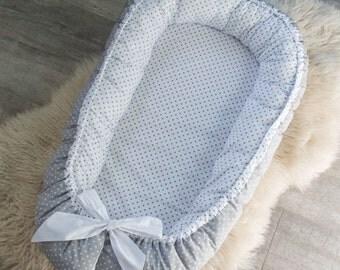 Double-sided Baby Nest for newborn babynest, sleep bed, cot, snuggle nest, baby nest pattern, sleep nest, pod, co sleeper