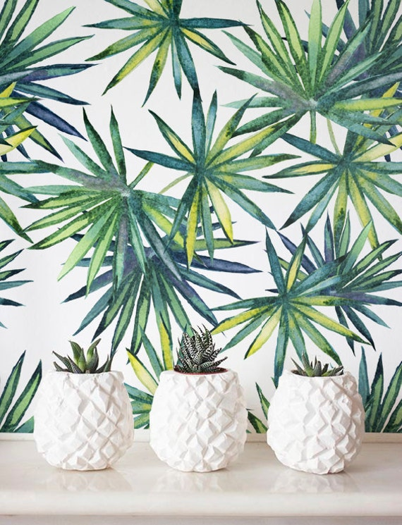 palm tree wallpaper interior