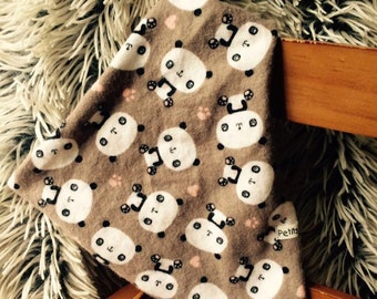 Bib grey panda | Brown, pink