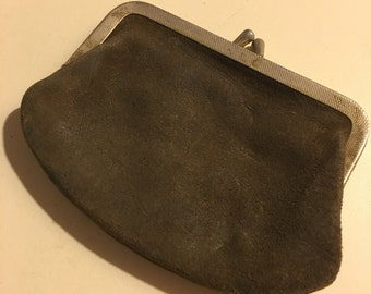Vintage Old Leather Coin/ Change Purse