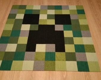 MineCraft Creeper inspired rug