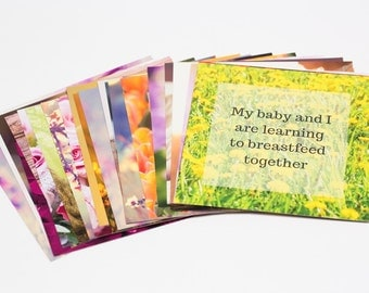 Positive Affirmation Cards for Breastfeeding Mums
