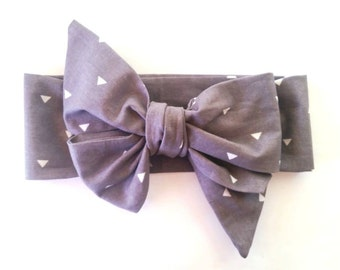Gray Triangle Headwrap