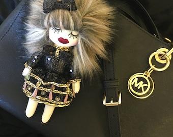 Bag charm, key chain by Kie Kie Doll