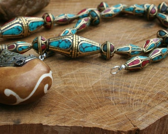 Exclusive Tribal Touch-Exclusive Necklace With An Abundance Of different Nepalese Beads
