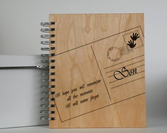Wood Spiral Journal... Notes to my son