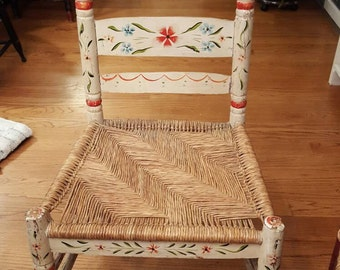 Vintage Adult Painted Mexican Chair