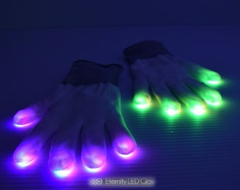 LED Light Up Rave Gloves
